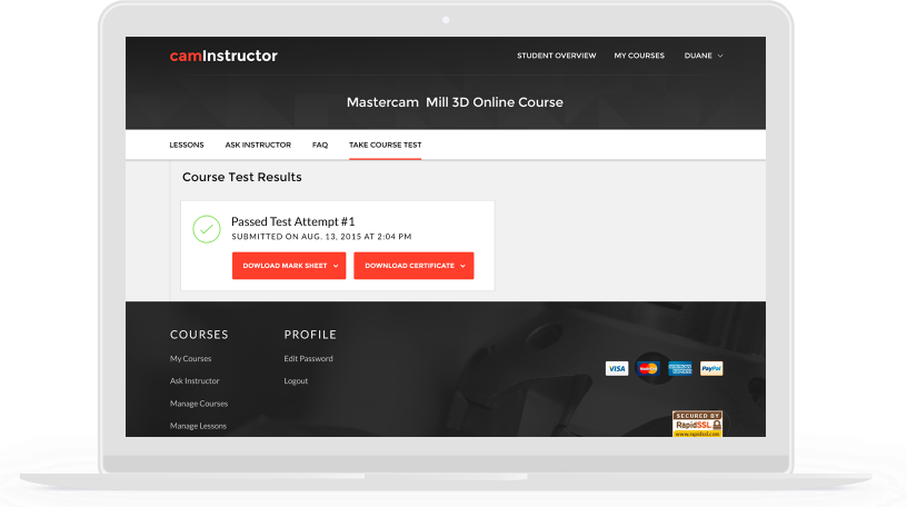 Mastercam Online Courses - CamInstructor