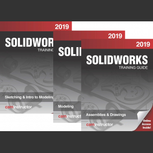 SOLIDWORKS 2019 3 Book Combo