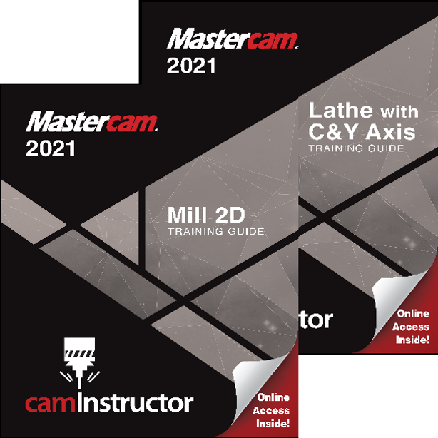 Preview of Mastercam 2021 - Mill 2D & Lathe Training Guide Combo