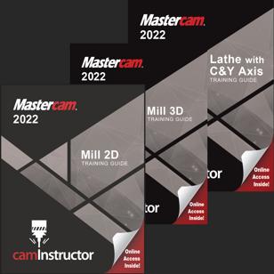 Mastercam 2022 - Mill 2D & 3D & Lathe Combo