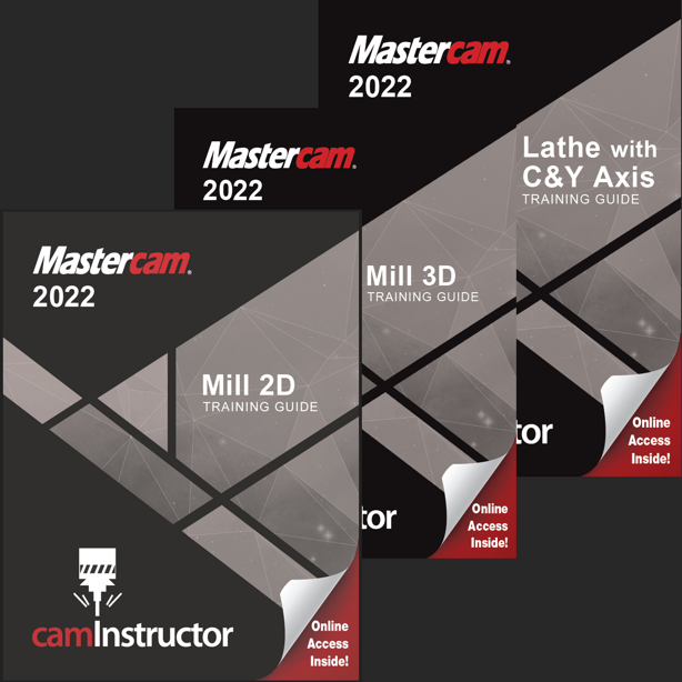 Preview of Mastercam 2022 - Mill 2D & 3D & Lathe Training Guide Combo