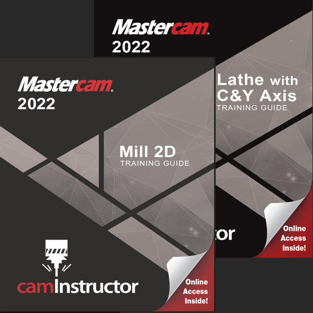 Preview of Mastercam 2022 - Mill 2D & Lathe Training Guide Combo